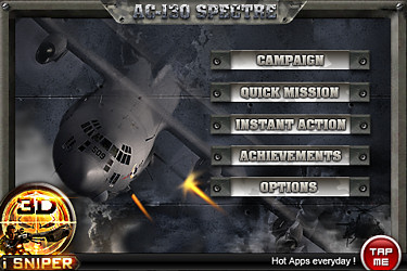 The AC-130 Spectre gunship shooting game app for iPhone review