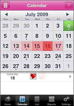 Period Plus Menstrual Calendar for the iphone
