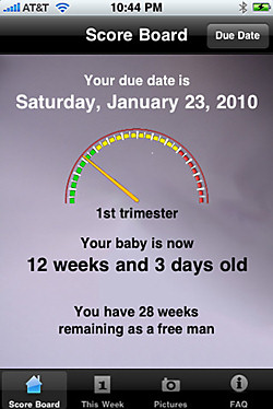 mPregnancy iphone app for men with a pregnant partner